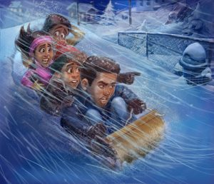 """Promotional image for Adventures in Odyssey Club episode """"The Snow Must Go On"""""""